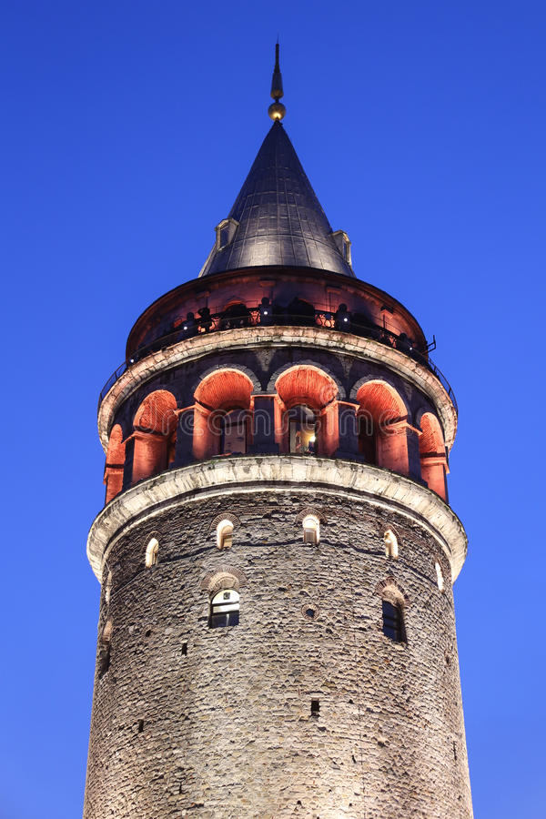 Galata Tower in Beyoglu. Istanbul City, Turkey stock photo