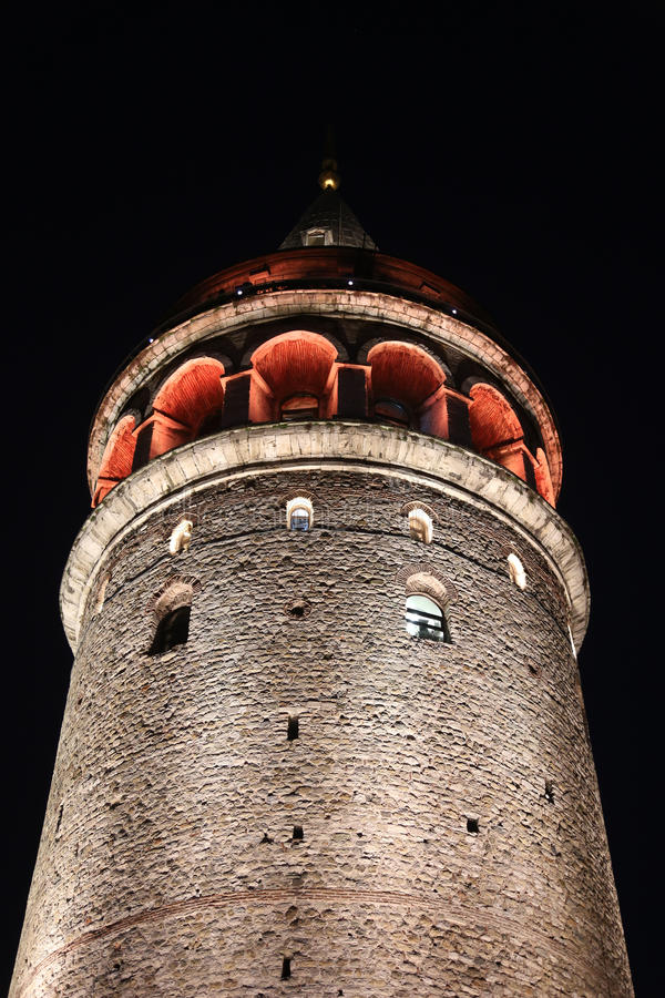 Galata Tower in Beyoglu. Istanbul City, Turkey royalty free stock photography