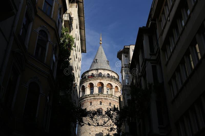 Galata Tower in Beyoglu, Istanbul, Turkey. Galata Tower in Beyoglu, Istanbul City, Turkey royalty free stock images