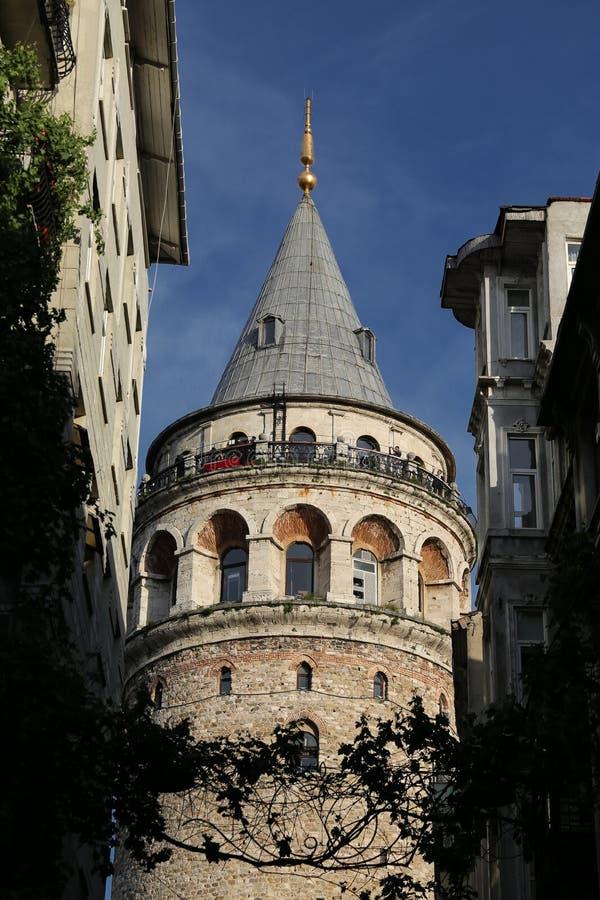 Galata Tower in Beyoglu, Istanbul, Turkey. Galata Tower in Beyoglu, Istanbul City, Turkey stock photography