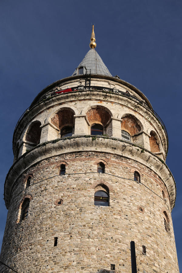 Galata Tower in Beyoglu, Istanbul, Turkey. Galata Tower in Beyoglu, Istanbul City, Turkey stock image
