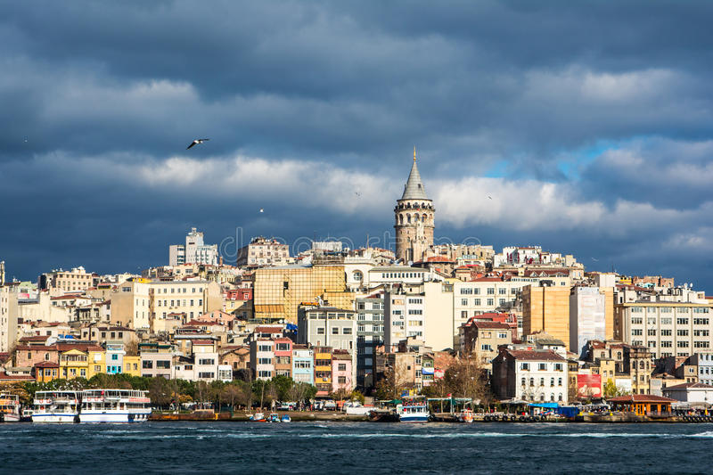 Galata Tower, Istambul, Turkey royalty free stock images