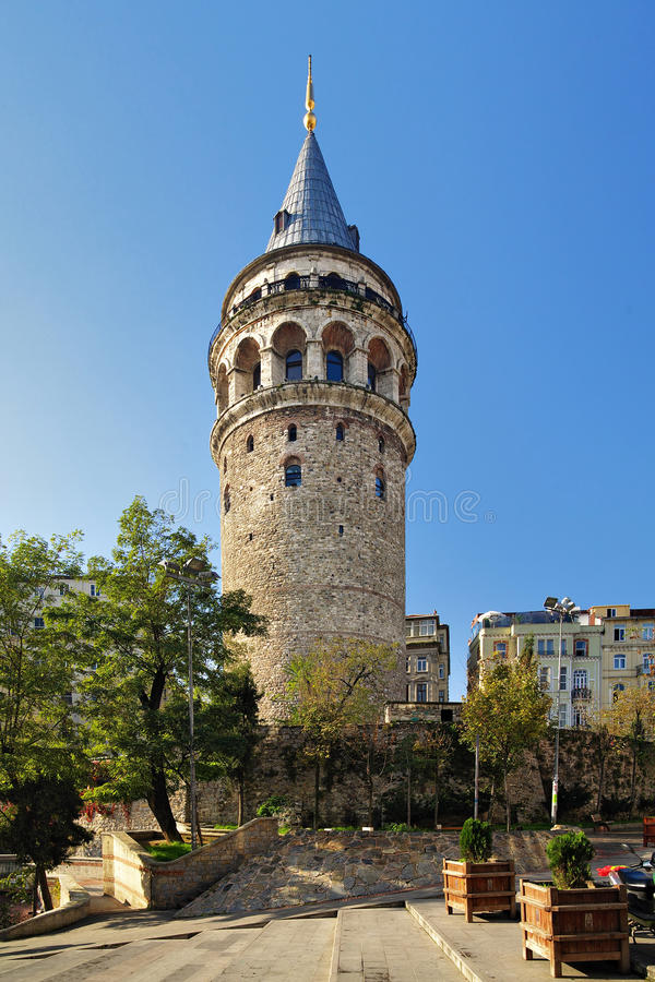 Galata Tower in Istanbul. Turkey stock photography