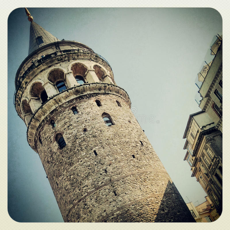 Galata Tower in Istanbul. Galata Tower Building in Istanbul, Turkey royalty free stock images