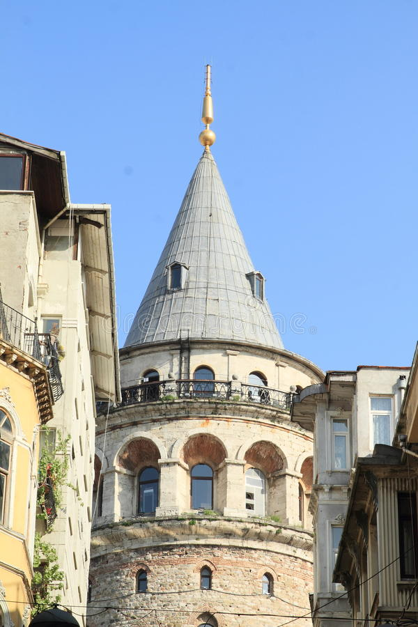 Galata Tower in Istanbul stock photos