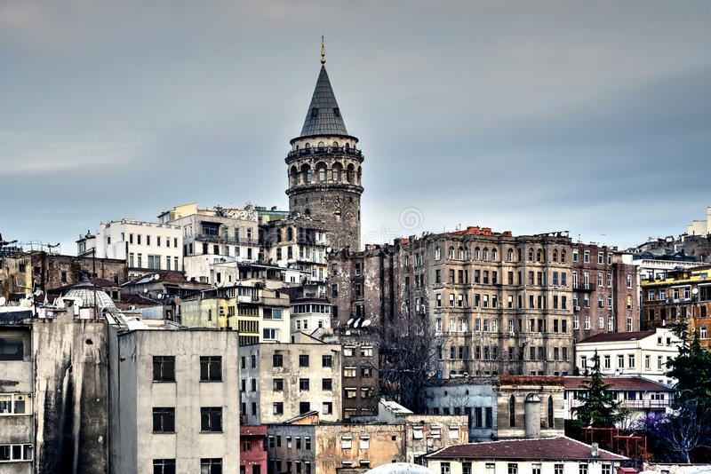 Galata Tower in Ä°stanbul... stock photography