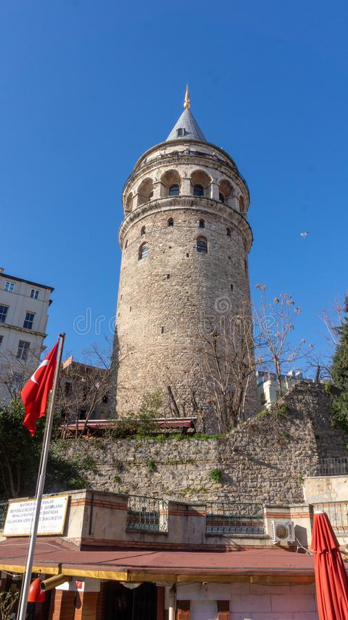 Galata tower - Istanbul stock photography