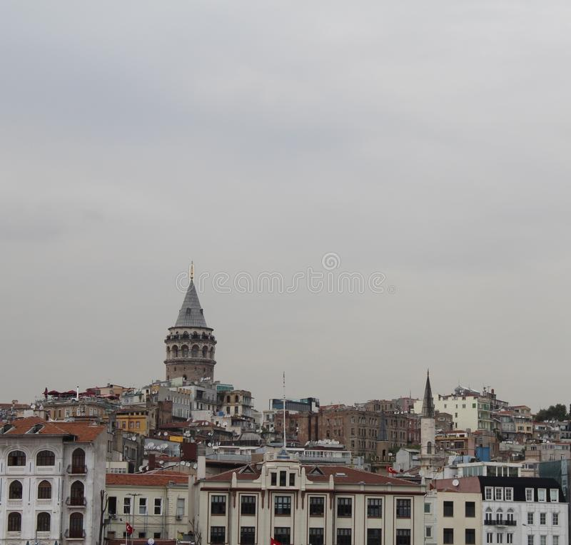 Galata tower istanbul royalty free stock images