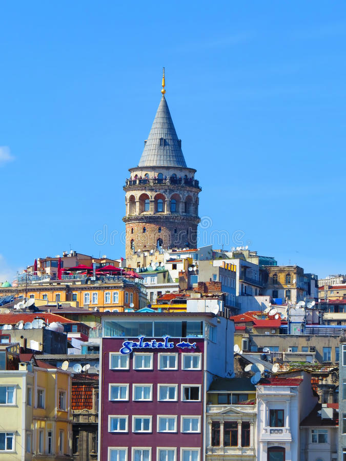 Download Galata Tower editorial stock photo. Image of traditional - 42184763