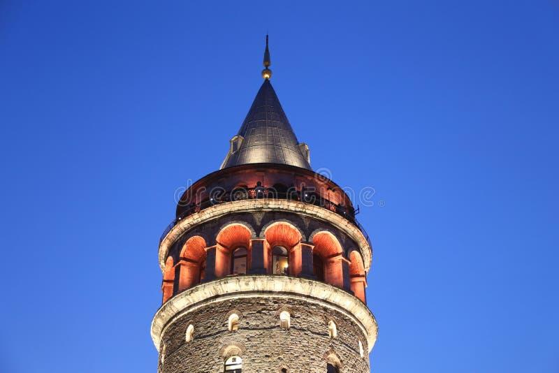 Galata-Turm in Beyoglu, Istanbul lizenzfreie stockfotos