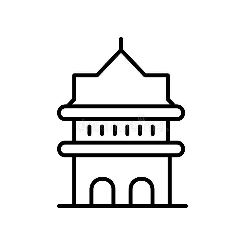 Galata wierza w Istanbuł ikony wektorze odizolowywającym na białym tle, Galata wierza w Istanbuł znaka, kreskowego lub liniowego  royalty ilustracja