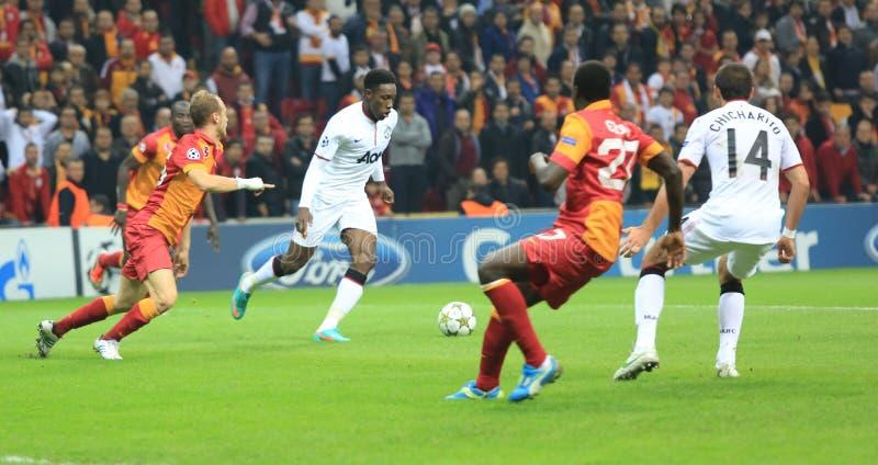 Galatasaray FC - Манчестер Юнайтед FC стоковое изображение