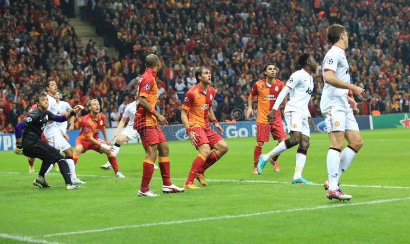 Galatasaray FC - Манчестер Юнайтед FC стоковое фото rf