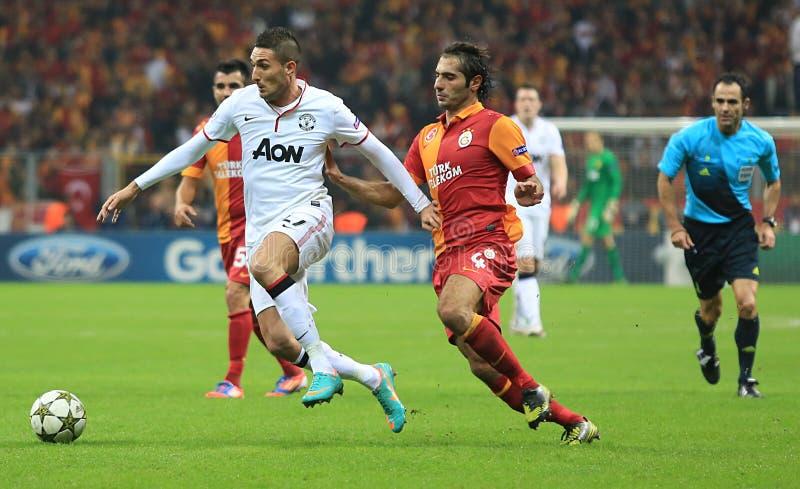 Galatasaray FC - Манчестер Юнайтед FC стоковое изображение rf
