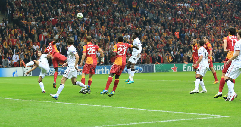 Galatasaray FC - Manchester United FC Editorial Stock Image