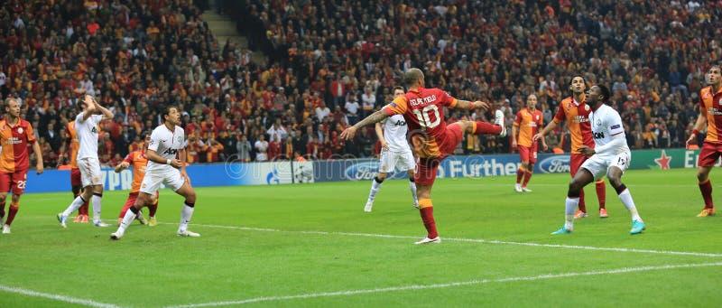 Galatasaray FC - Manchester United FC obraz royalty free