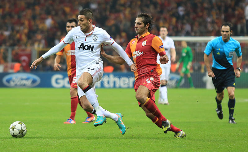 Galatasaray FC - Manchester United FC image libre de droits