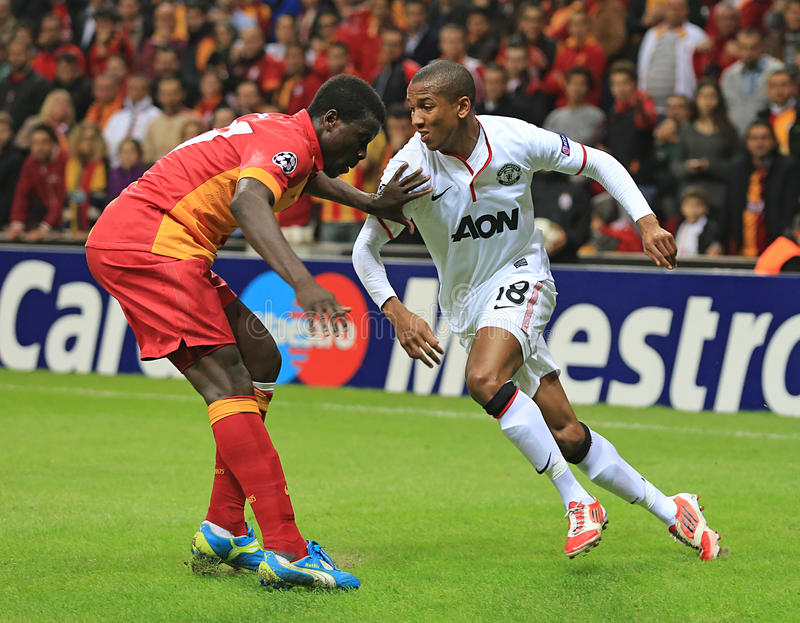 Galatasaray FC - Manchester United FC image libre de droits