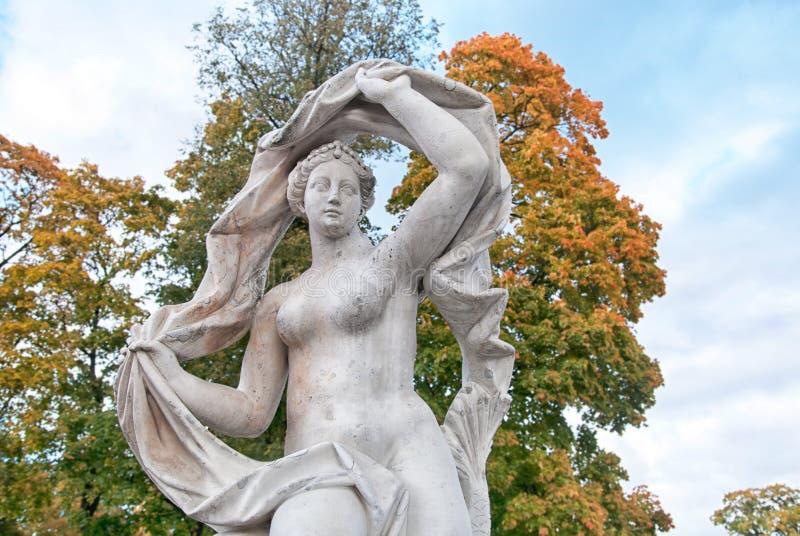 Galatea Sculpture Tsarskoye Selo St Petersburg Rússia foto de stock