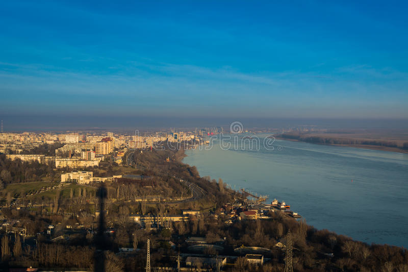Galati och Donau, Rumänien arkivbilder