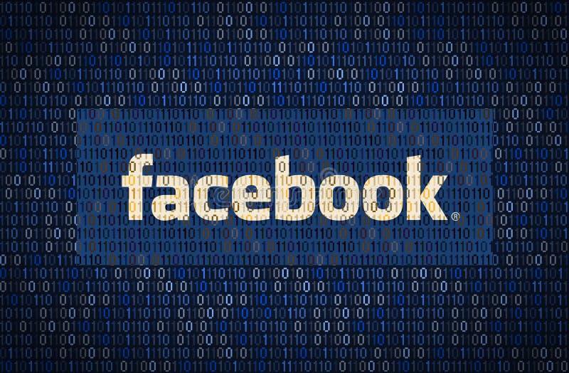 GALATI, ROMÊNIA - 10 DE ABRIL DE 2018: Edições da segurança de dados e da privacidade de Facebook Conceito do encription dos dado ilustração do vetor