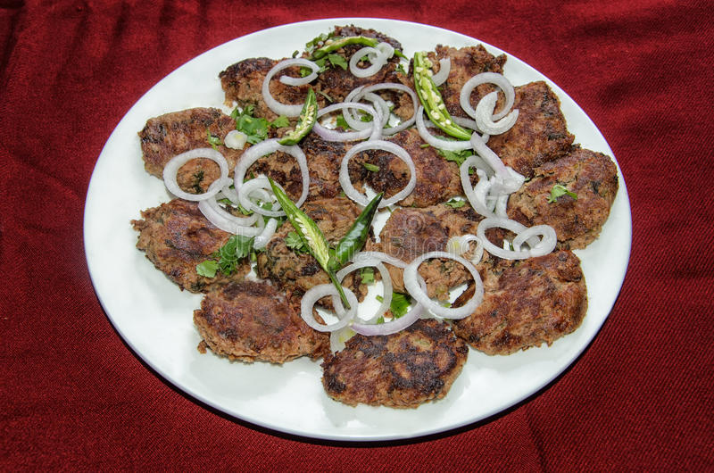 Galawati Kebab. Galawati Kabab is a traditional Awadhi recipe popular in Lucknow. The word `Galouti` or 'Galawati' means ' melt in the mouth'. According royalty free stock photography