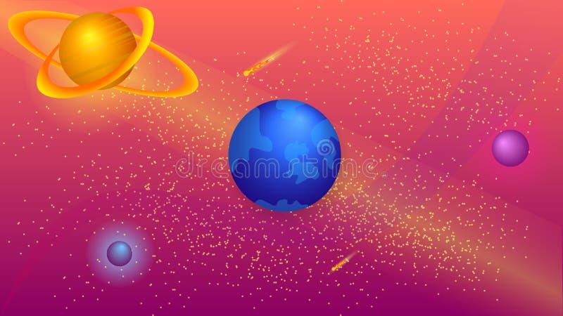 galax annan stock illustrationer