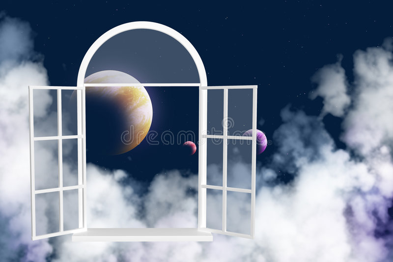 galax annat fönster royaltyfri illustrationer