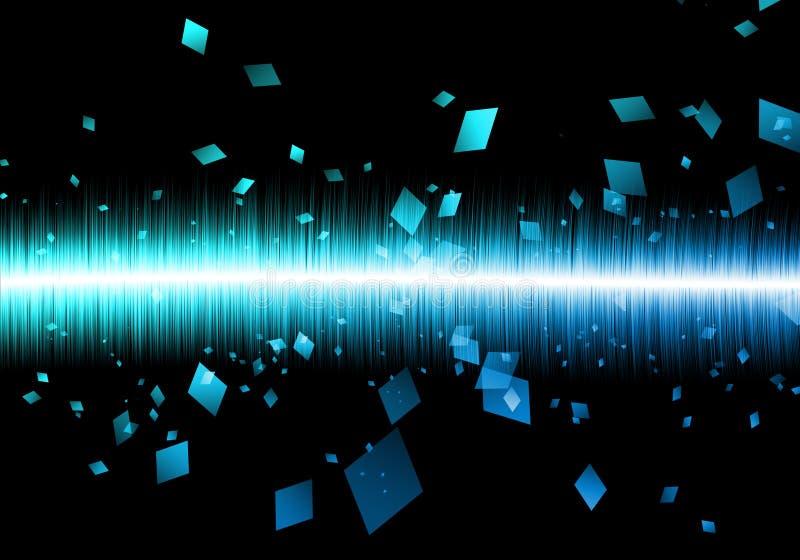 Galax azul abstracto del negro de soundwave del rectángulo de soundwave stock de ilustración