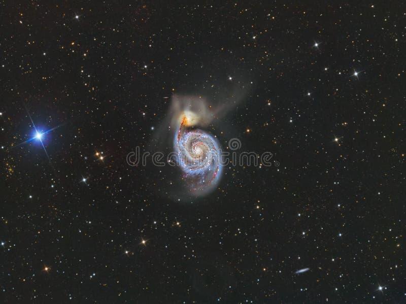 Galax för bubbelpool M51 royaltyfria bilder