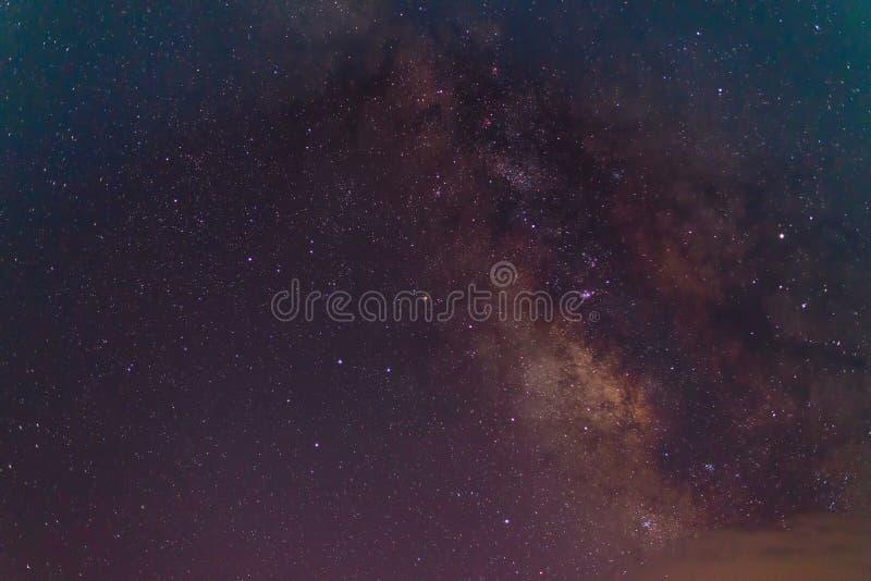 Galax för mjölkaktig väg, långt exponeringsfotografi fotografering för bildbyråer