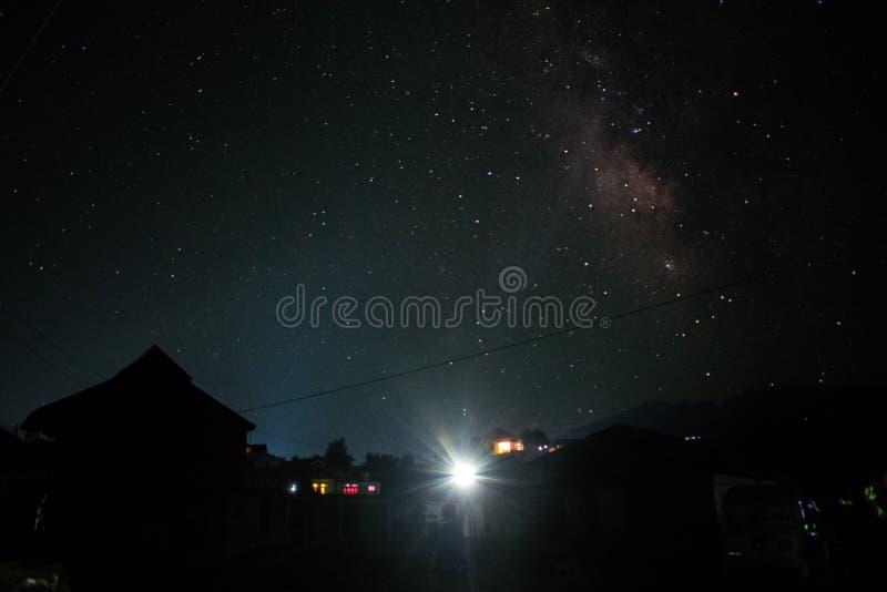 Galax 2 för natthimmel arkivfoton