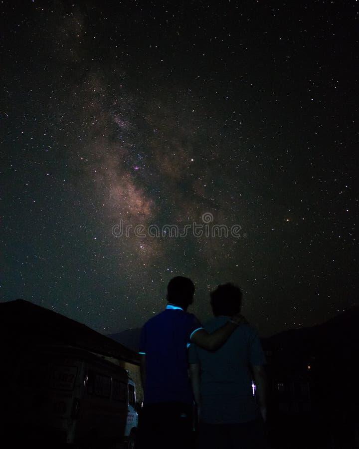 Galax för natthimmel arkivbilder