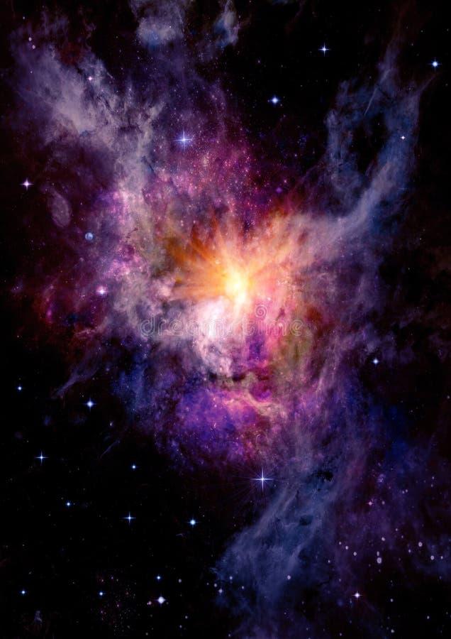 Galax i ett fritt utrymme stock illustrationer