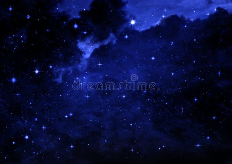 Galax i ett fritt utrymme royaltyfri illustrationer