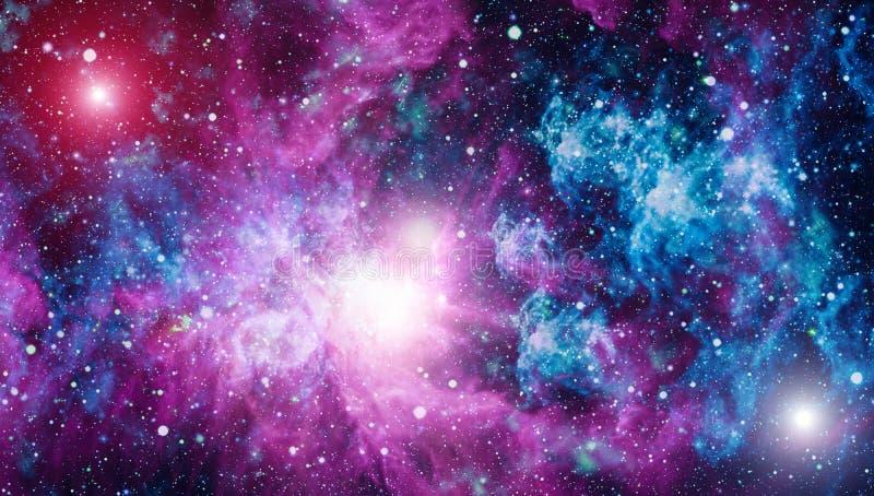 Galax i utrymme, skönhet av universum, svart hål Beståndsdelar som möbleras av NASA royaltyfri fotografi