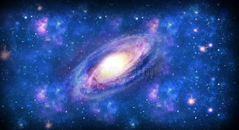 Galax i utrymme, svart hål, universum stock illustrationer