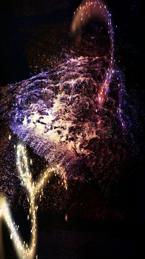 Galax i vattnet arkivbilder