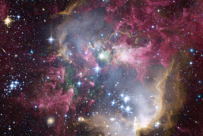 Galax i yttre rymd, skönhet av universum arkivbilder