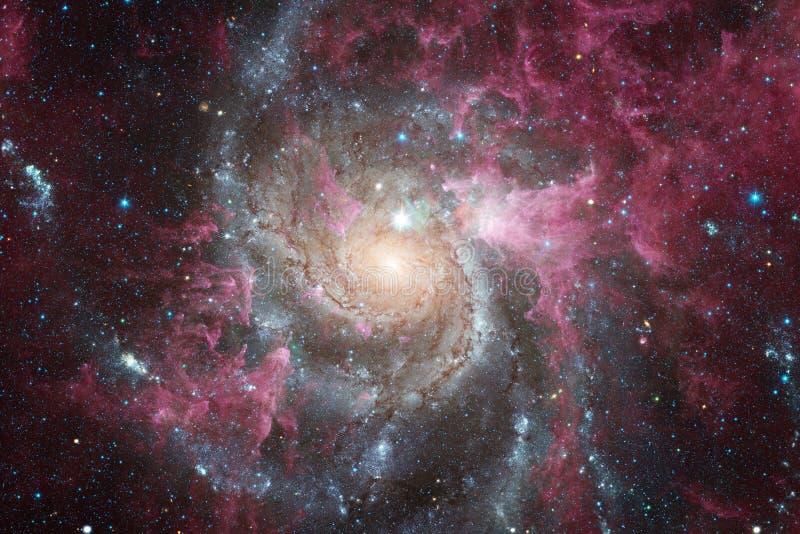 Galax i yttre rymd, skönhet av universum fotografering för bildbyråer