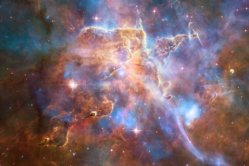 Galax i yttre rymd, skönhet av universum Beståndsdelar av denna avbildar möblerat av NASA arkivfoto