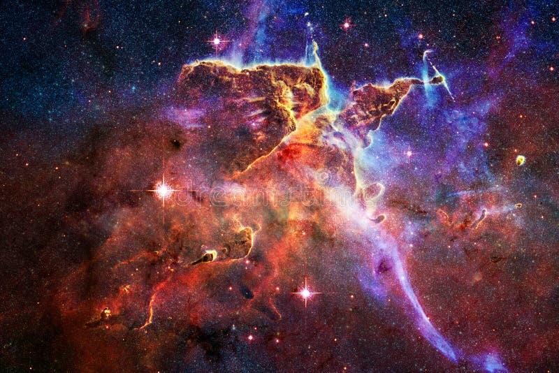 Galax i yttre rymd, skönhet av universum Beståndsdelar av denna avbildar möblerat av NASA royaltyfri fotografi