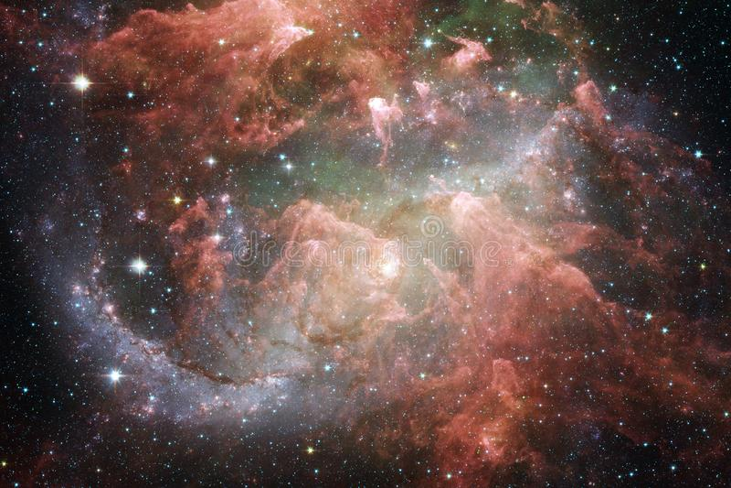 Galax i yttre rymd, skönhet av universum Beståndsdelar av denna avbildar möblerat av NASA royaltyfri bild