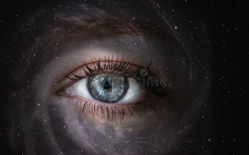 Galax med ögat fotografering för bildbyråer