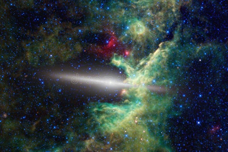 Galax någonstans i djupt utrymme Skönhet av universum royaltyfri fotografi