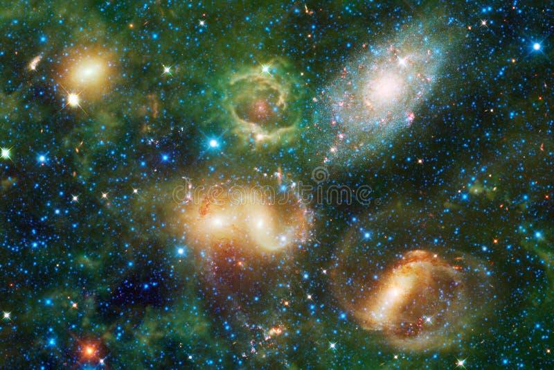 Galax någonstans i djupt utrymme Skönhet av universum vektor illustrationer