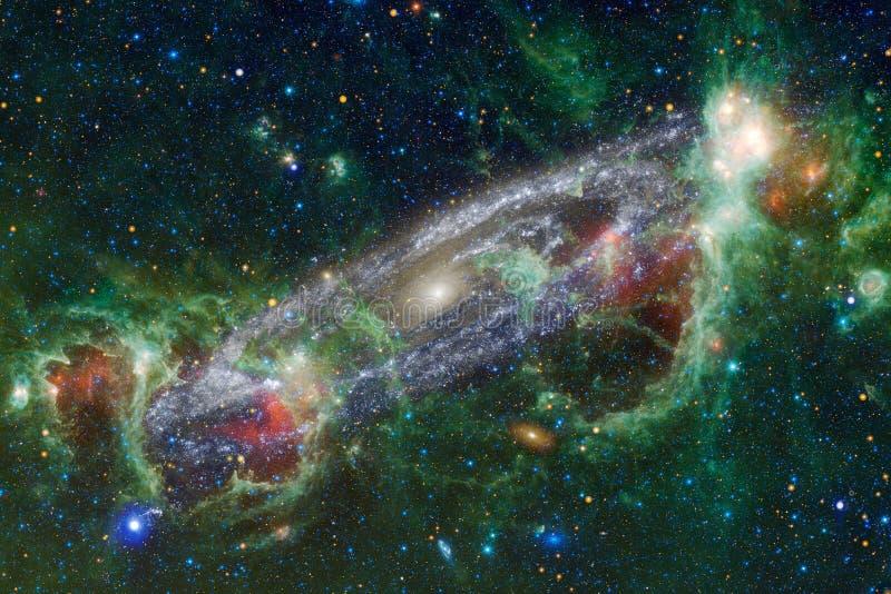 Galax någonstans i djupt utrymme Skönhet av universum royaltyfri illustrationer