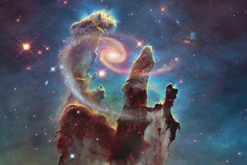 Galax någonstans i djupt utrymme Skönhet av universum royaltyfri foto