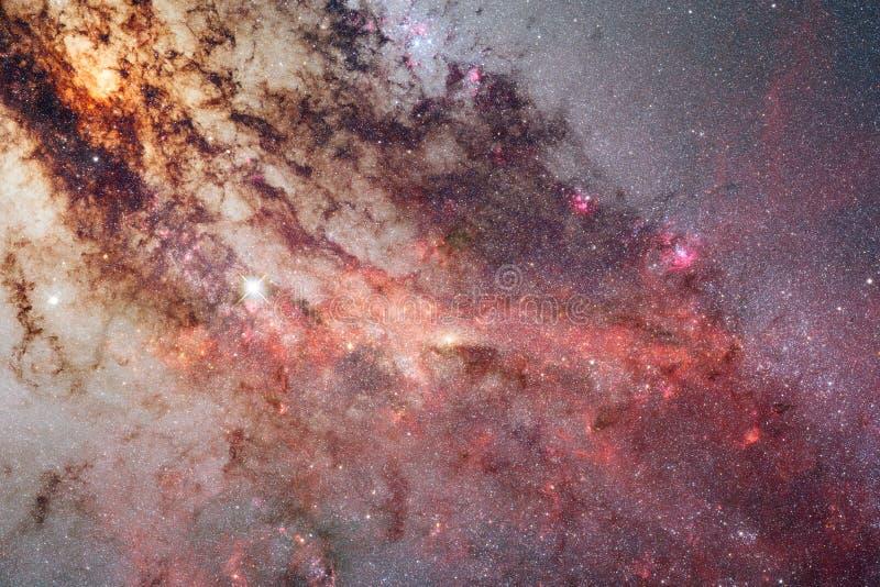 Galax någonstans i djupt utrymme Skönhet av universum royaltyfria foton