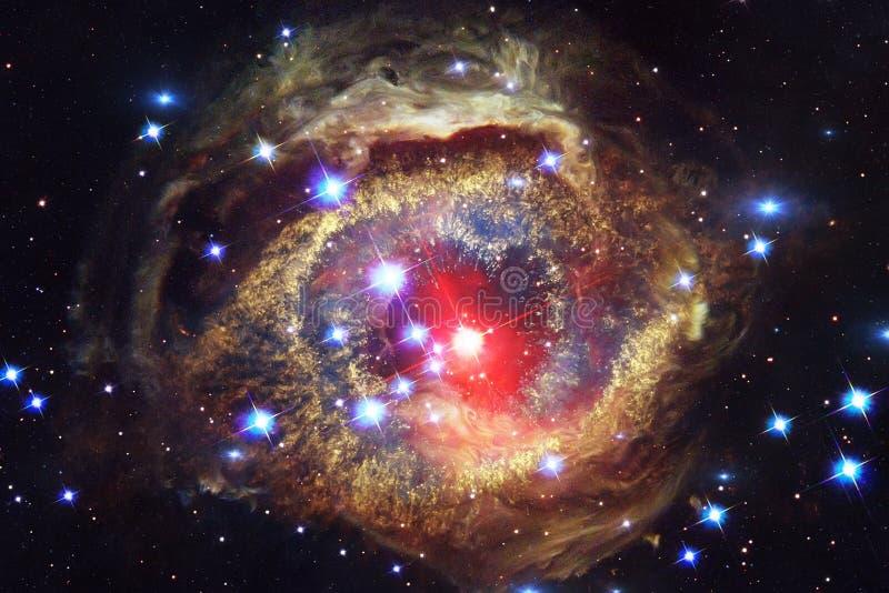 Galax någonstans i djupt utrymme Skönhet av universum arkivbild